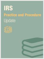 IRS Practice & Procedure Update