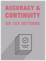 Accuracy & Continuity on Tax Returns