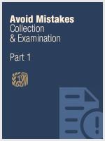 Avoid Mistakes - Part I - Collection & Examination