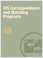 IRS Correspondence & Matching Programs