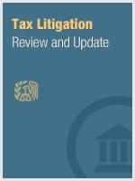 Tax Litigation Review & Update